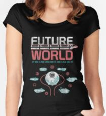 1982 EPCOT Center Future World Map Fitted Scoop T-Shirt