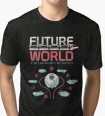 1982 EPCOT Center Future World Map Tri-blend T-Shirt