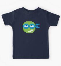Nerdy Pixel Leonardo Teenage Mutant Ninja Turtle Kids Tee
