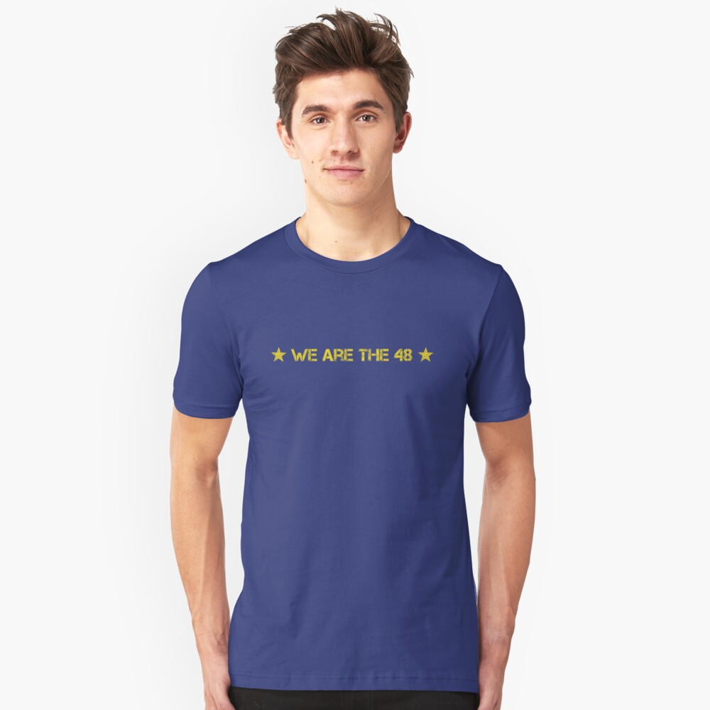 We Are The 48 (Linear) Slim Fit T-Shirt