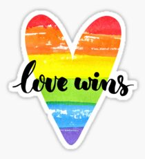Love wins. Gay saying. Sticker