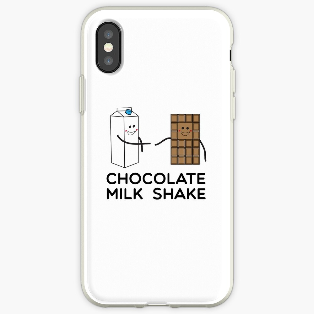 Malteada de chocolate Funda y vinilo para iPhone
