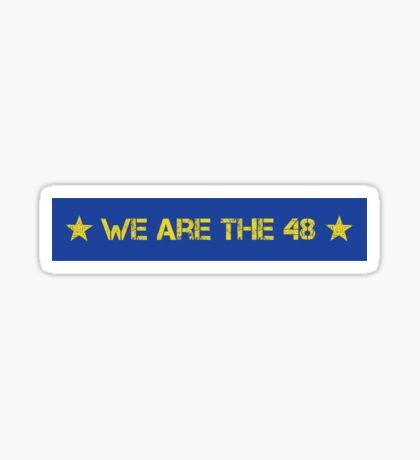 We Are The 48 (Linear) Sticker