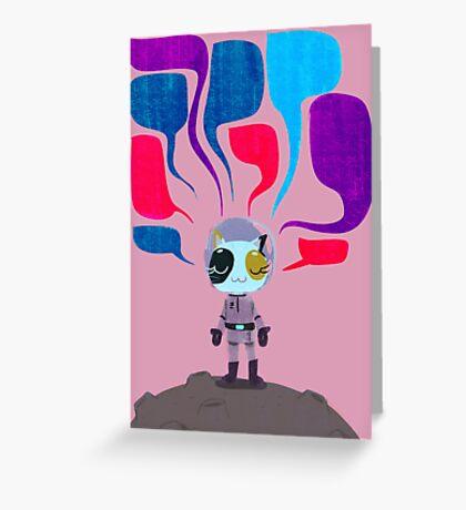 space pioneer Greeting Card
