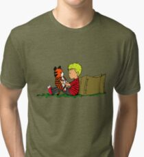 The Many Adventures of Hobbes Tri-blend T-Shirt