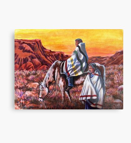 Wrapped In Tradition, Nomads Metal Print