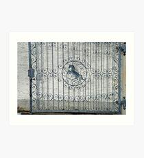 Horse-gate Art Print