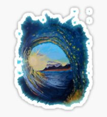 In the eye of the wave Sticker