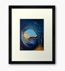 In the eye of the wave Framed Print