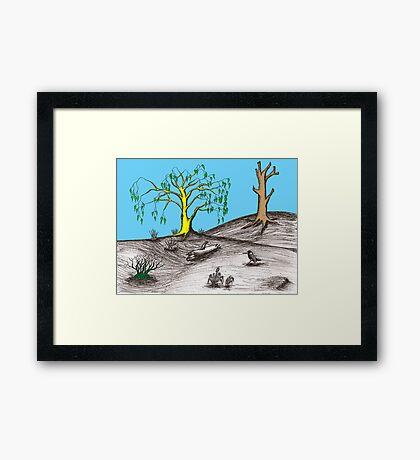 Golden tree succession Framed Print
