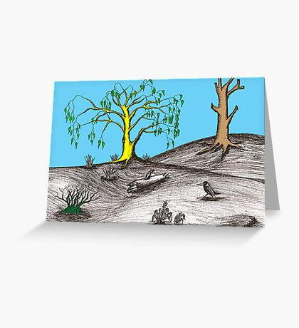 Golden tree succession Greeting Card