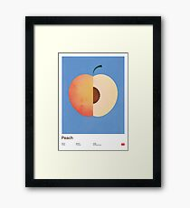 Peach (blue) - Natural History Fruits Framed Print