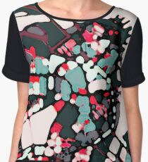 Abstract Map of Boston Harbor Women's Chiffon Top