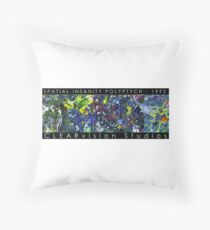 Spatial Insanity (1992) Throw Pillow
