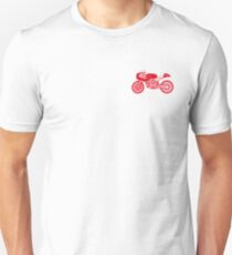 Retro Cafe Racer Bike - Red Unisex T-Shirt
