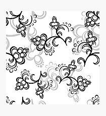 White Flower Pattern Photographic Print
