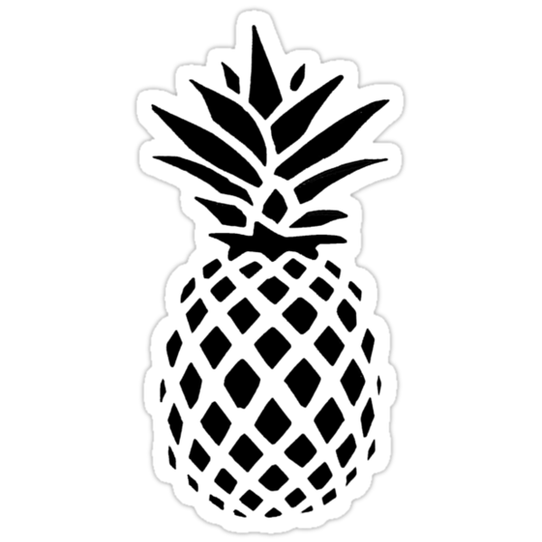 Quot Pineapple Silhouette Quot Stickers By Laughattack Redbubble