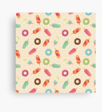Ice cream and donuts 001 Canvas Print