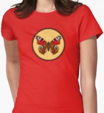 Admiral Butterfly - Cross Stitch style Womens Fitted T-Shirt