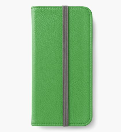 The green rabbit (outline black) iPhone Wallet