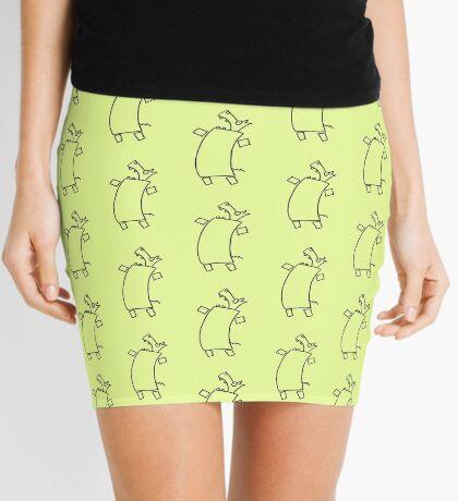Ants in the pants (outline black) Mini Skirt