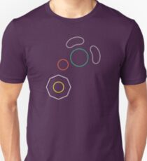 Gamecube Controller Button Symbol Outline Unisex T-Shirt