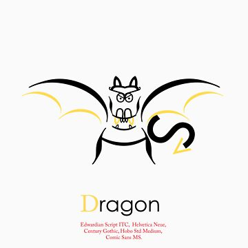 Dragon Typography by justjimdesign