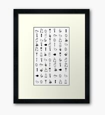 Kitchen utensil patterns Framed Print