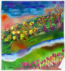 Whimsical Sunset by Roger Pickar, Goofy America Poster