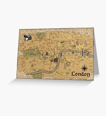Map of London - Tolkien Inspired  Greeting Card