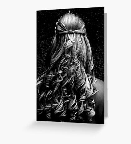 Wedding Curls Greeting Card