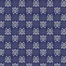 Pattern Navy Blue by elangkarosingo