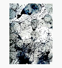 Ink Splatter Abstract Art Photographic Print