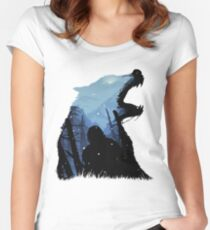 Jon Snow - King of The North Women's Fitted Scoop T-Shirt