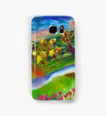 Whimsical Sunset by Roger Pickar, Goofy America Samsung Galaxy Case/Skin