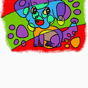 Hand-Drawn-Style PopArt Dog by Haylomeni