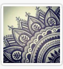 Beautiful Henna Hippie Flower Sticker