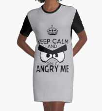 Don't Angry Me Graphic T-Shirt Dress