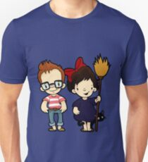 You'd think they'd never seen a girl and a cat on a broom before Unisex T-Shirt