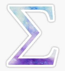Blue Sigma Watercolor Letter Sticker