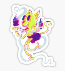 Crusty Cat Sticker