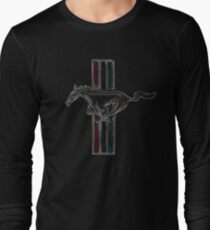 ford mustang, colored logo Long Sleeve T-Shirt