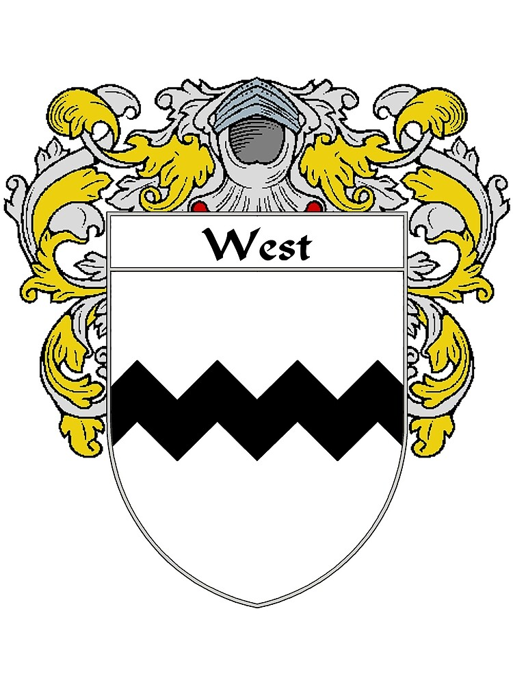West Coat of Arms / West Family Crest by William Martin