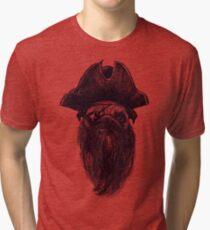 Capt. Blackbone the pugrate Tri-blend T-Shirt