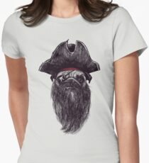 Capt. Blackbone the pugrate Women's Fitted T-Shirt
