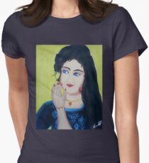 Beautiful Lady Womens Fitted T-Shirt