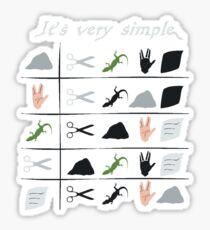 scissors rock paper spock lizard  Sticker