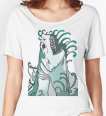 megalodon, great white, shark attack Women's Relaxed Fit T-Shirt