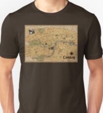 Map of London - Tolkien Inspired  Unisex T-Shirt