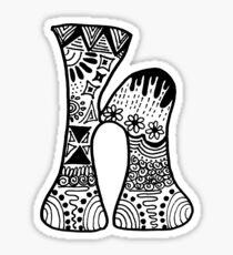 """Hipster Letter """"H"""" Zentangle Sticker"""